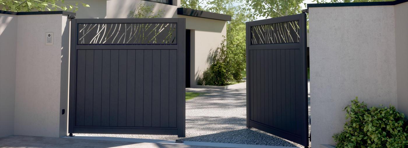 Fabricant Portail Aluminium Fabrication Portail Coulissant Alu Portail Battant Sur Mesure